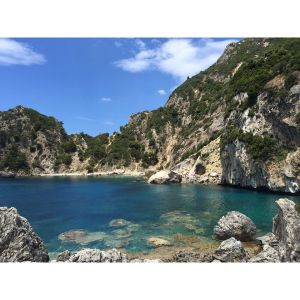 Beautiful secluded part of Corfu island
